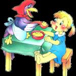 Еда в потешках и прибаутках для малышей