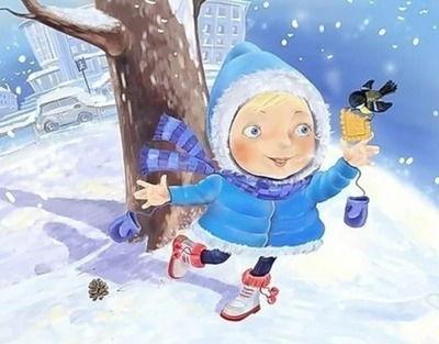 Зимние загадки для малышей и школьников