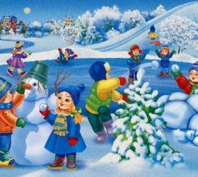 Мои сани едут сами! - детские стихи про зимние забавы