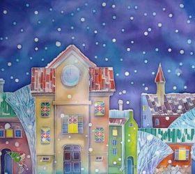 Снег летит пушистой стайкой! - стихи про снег для детей