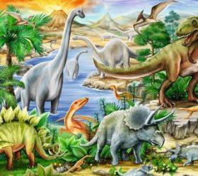 Мир динозавров в коротких стихах для детей