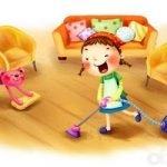 Мамины помощники - короткие стихи для малышей