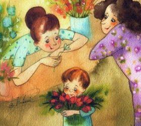 Алые тюльпаны подарю бабуле! - стихи на 8 марта для бабушки
