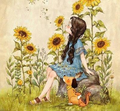 Золотой подсолнушек зреет у дорожки! - короткие детские стихи про подсолнухи