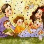 Маму с папой я люблю! - короткие поздравительные стихи для малышей