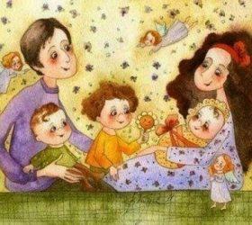 Маму с папой я люблю! — короткие поздравительные стихи для малышей
