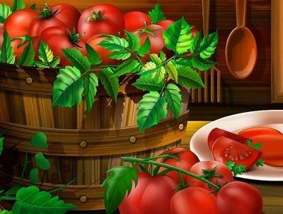 Он нам дарит сок томатный! - загадки про помидор для детей
