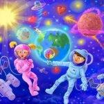 На космической ракете - короткие стихи про космос и космонавтов для детей