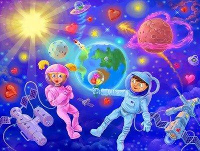 На космической ракете... - короткие стихи про космос и космонавтов для детей