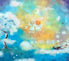 Вот плывут подружки-тучки.. — детские стихи про небо, облака и тучи