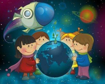 «Космическая школа»- праздничный сценарий для малышей на День Космонавтики