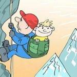 Мы играем в альпинистов! - детские стихи про скалолазов