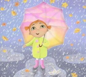 Капли сыплются с небес - стихи про дождь