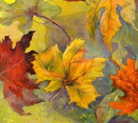 Осенние листья в стихах для детей