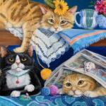 Коты и кошки в коротких стихах для детей