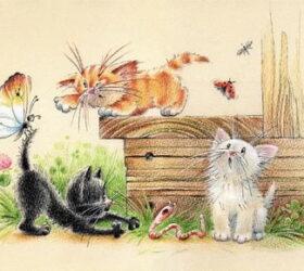 Коты, кошки и, котята в загадках для детей